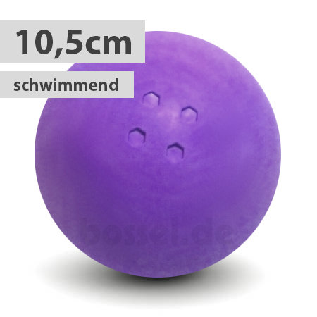 Schwimmende Boßelkugel gummi 10.5cm lila (Hobby)