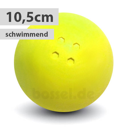 Schwimmende Boßelkugel gummi 10.5cm gelb (Hobby)