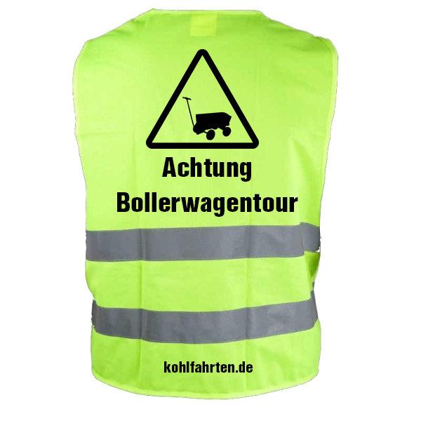 Warnweste Achtung Bollerwagentour