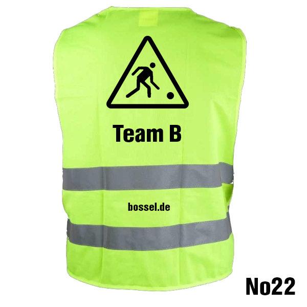 "Warnweste ""Team B"""