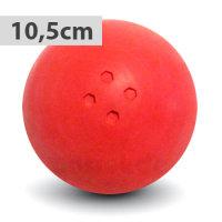 Boßelkugel gummi 10.5cm rot (Hobby)