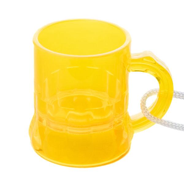 Schnapsglas am Band, Henkelstamper, Pinnchen, 2cl zum Umhängen in GELB