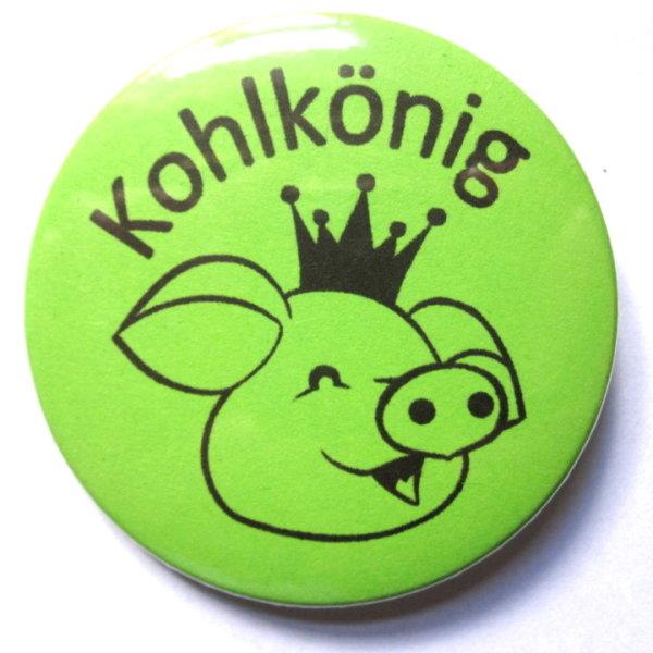 """button kohlkönig """"schwein"""", 2,00 €, Einladung"""